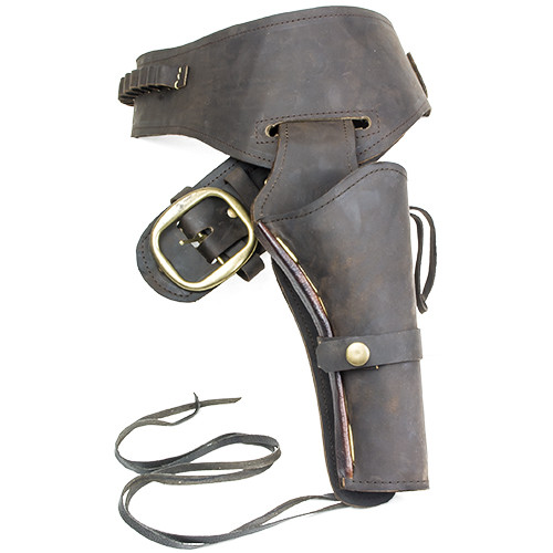 Fast Draw Oiled Brown Leather Western Holster
