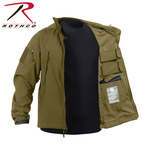 Rothco Concealed Carry Soft Shell Jacket - Coyote Brown