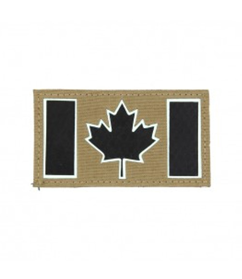 IR / Glow Canada Flag - Coyote Brown - Morale Patch