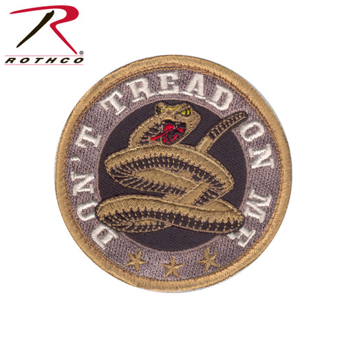 Round Don't Tread On Me Morale Patch