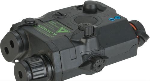 FMA PEQ15 Style Airsoft LED Illuminator & Laser Combo - Black