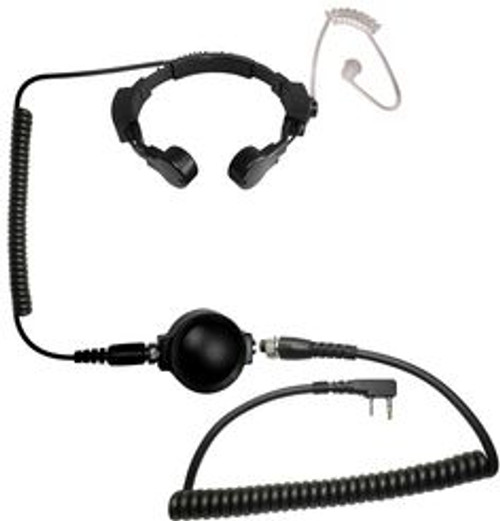 Microphone - Code Red Headset ASSAULT Tactical Throat Mic w/PTT - Midland 2-Pin