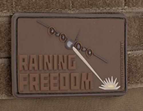 Raining Freedom 3D PVC Morale Patch - Dark Earth