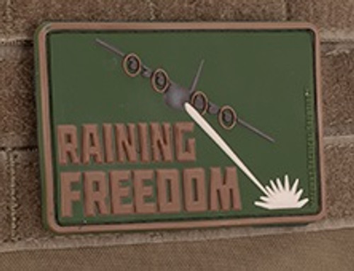 Raining Freedom 3D PVC Morale Patch - Multicam