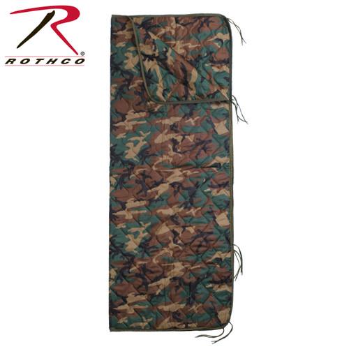 GI Type Rip-Stop Poncho Liner/Ranger Blanket w/Zipper - Woodland