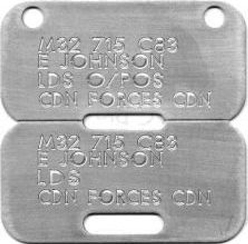 Engraved Canadian Armed Forces Dog Tags