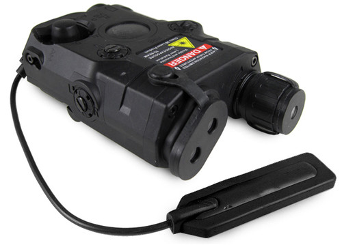 Matrix PEQ-15 Type Laser/Flashlight Combo w/Remote Pressure Switch - Black