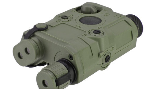 Matrix PEQ-15 Type Laser & Flashlight Combo w/Remote Pressure Switch - Green Laser/OD Green