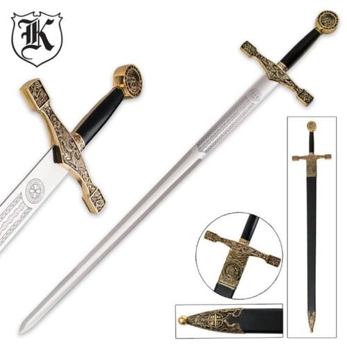 Excalibur Deluxe Sword w/Gold Finish