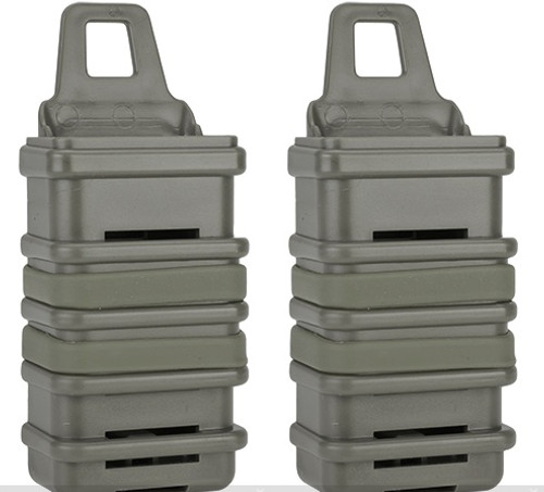 Avengers Fast Hard Shell Mag Holster For Airsoft MP7 Series Magazines - Set of 2 / Foliage Green