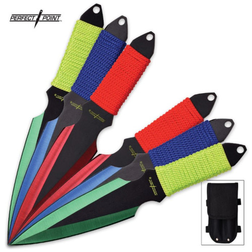 Perfect Point 6-Piece Throwing Knife Set