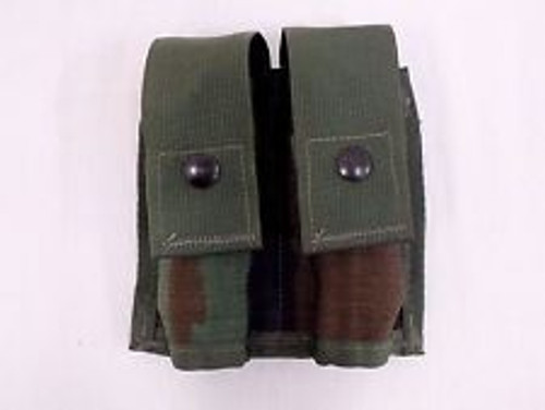 U.S. Armed Forces 40MM Pyrotechnic Double Pouch - Woodland Camo