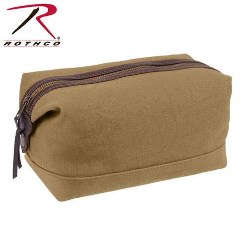 Canvas & Leather Travel Kit - Coyote Brown