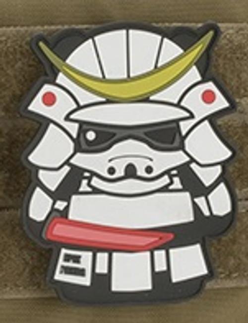 Epik Panda Panda Samurai PVC Rubber Morale Patch - Ghost - White