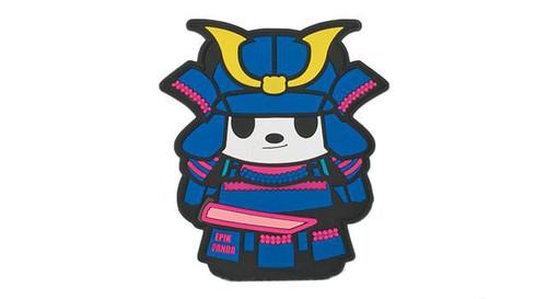 "Epik Panda ""Panda Samurai"" PVC Rubber Hook and Loop Morale Patch - Light (Blue)"