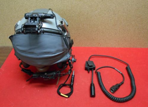 U.S. Armed Forces Air Force Helicopter Flight Helmet HGU 55/P w/NVG Mount & Internal TEA Comms
