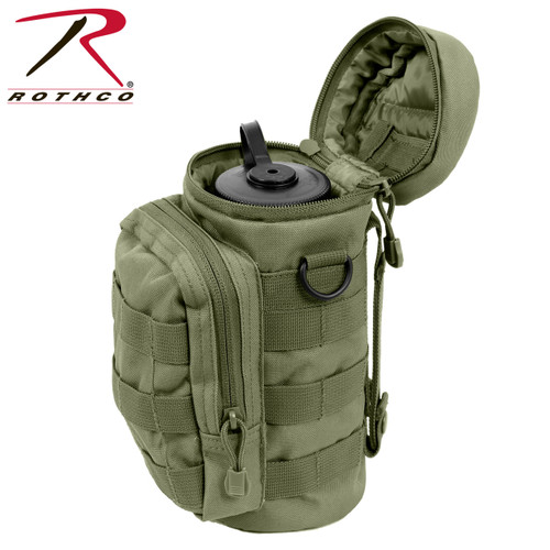 MOLLE Compatible Water Bottle Pouch - Olive