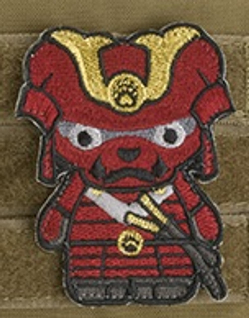 Kuma Korps - Samurai Bear Embroidered Morale Patch - Red