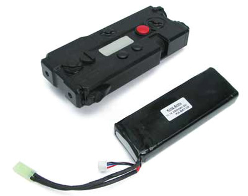King Arms ANPEQ-7 Battery Case w 11.1V 3300mAh 20C Lithium Battery