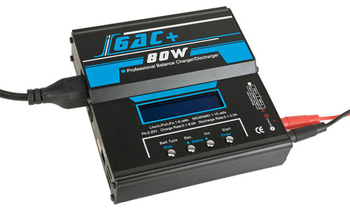 Ipower 6AC PRO 80W/5A Computer Battery Balancer Charger (NiCd NiMh Lipoly LiMn)