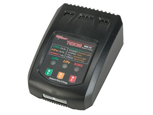 Tenergy TE3018 18W Compact Balance Charger for LiPo/LiFePO4/NiMH Battery Packs