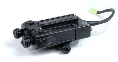 Matrix / King Arms DBAL-I Type PEQ2 RIS Mount Battery Box (With 9.6V Battery Pack)