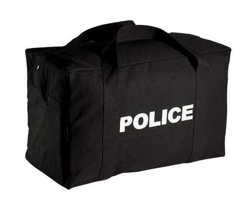Police Logo Gear Bag - Black