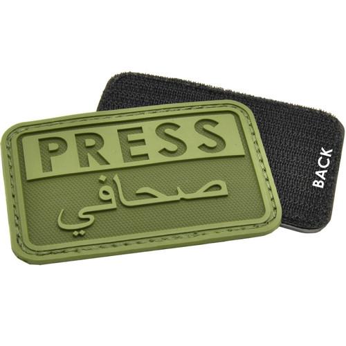 """Hazard 4 """"PRESS"""" PVC - Morale Patch - OD Green"""