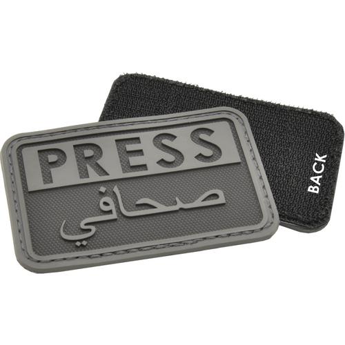 """Hazard 4 """"PRESS"""" PVC - Morale Patch - Black"""
