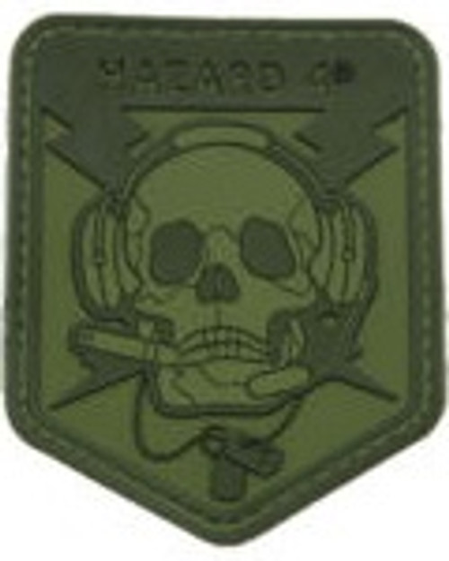 Hazard 4 Spec Op Skull - Morale Patch - Green
