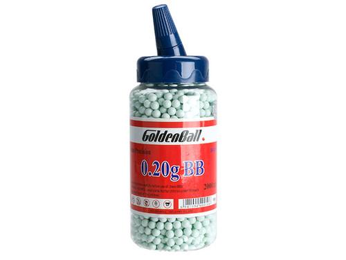 Golden Ball Pro-Series 6mm Premium High Grade High Strength Airsoft BBs - 0.20g Light Blue (2000rd Bottle)