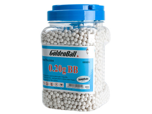 Golden Ball Pro-Series 6mm Premium High Grade Precision Airsoft BBs - 0.20g White (5000rd Jar)