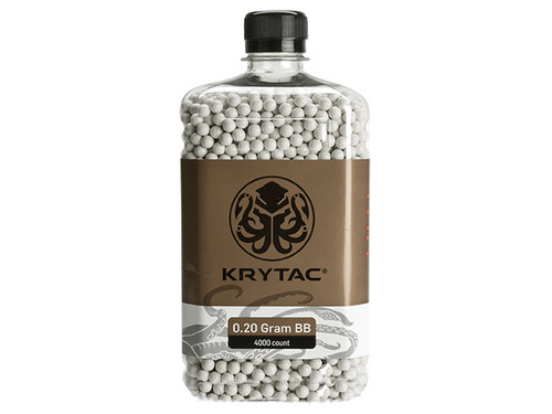 Krytac 0.20g Polished 6mm Airsoft BBs - 4000 / White