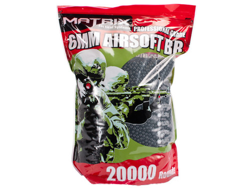 Matrix 0.20g Match Grade 6mm Airsoft BB Bulk Buy Bag- 20,000 / Black