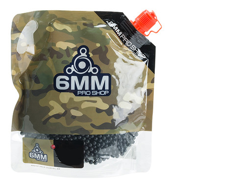 6mmProShop Pro-Series 6mm Premium High Grade High Strength Airsoft BBs - 0.25g Black (3000)