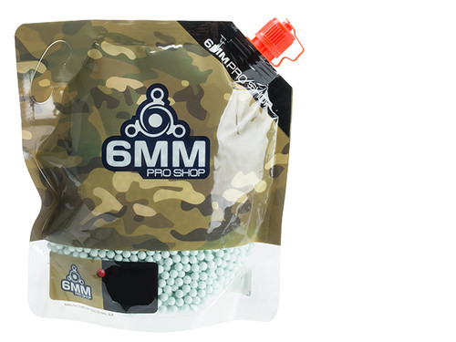 6mmProShop Pro-Series 6mm Premium High Grade High Strength Airsoft BBs - 0.25g Light Green (3000)