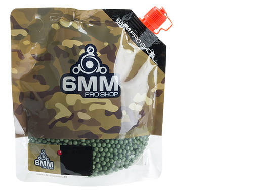 6mmProShop Pro-Series 6mm Premium High Grade Precision Airsoft BBs - 0.23g Green (3000)