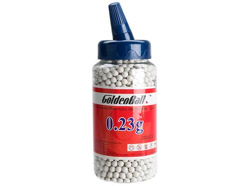 Golden Ball Pro-Series 6mm Premium High Grade High Strength Airsoft BBs - 0.23g White (2000rd Bottle)