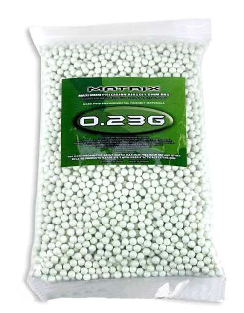 Matrix 0.23g Match Grade 6mm Airsoft BB - 5000/ White