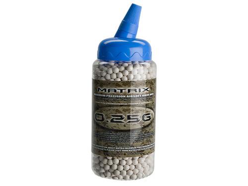 Matrix 0.25g Match Grade 6mm Airsoft BB Bottle - 2,000/ White