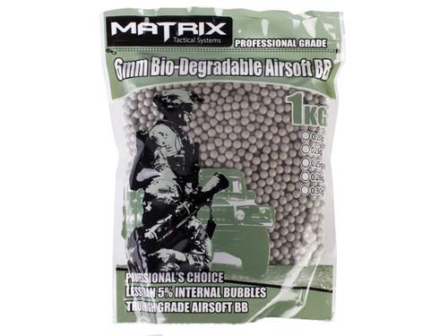 Matrix 0.25g Match Grade Bio-Degradable 6mm Airsoft BB - 1KG / Tan