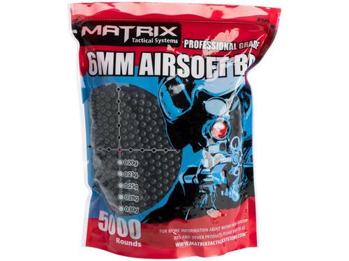 Matrix 0.25g Match Grade 6mm Airsoft BB - 5000 Black
