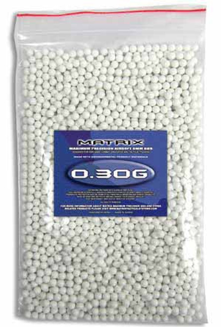 Matrix 0.30g Match Grade 6mm Airsoft BB - 2,000/ White