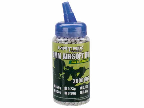 Matrix 0.30g Sniper Max Grade Bio-Degradable 6mm Airsoft BBs - 2000 rounds