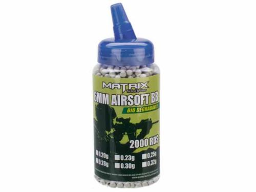 Matrix 0.32g Match Grade Bio-Degradable 6mm Airsoft BBs - 2000rds