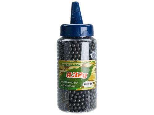 Golden Ball Pro-Series 6mm Premium Airsoft BBs - 0.32g Black (2000rd Bottle)
