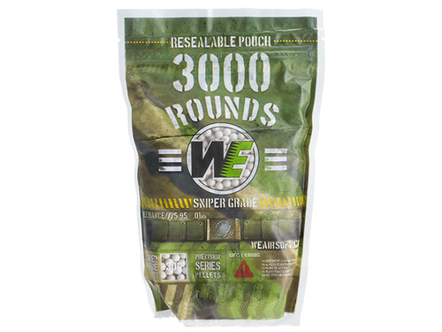 WE Precision 0.30g 'Match Grade' BB Value Pack w Resealable Pouch (3000 rounds)