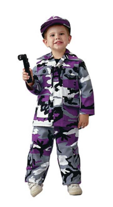 Junior G.I. Military B.D.U. Pants - Ultra Violet