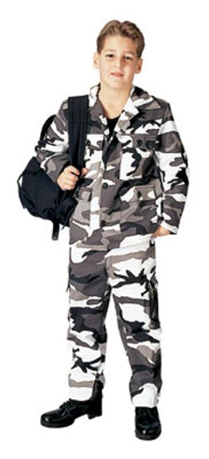 Junior G.I. Military B.D.U. Pants - Urban Camo