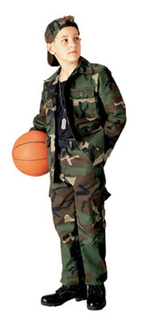 Junior G.I. Military B.D.U. Pants - Woodland Camo